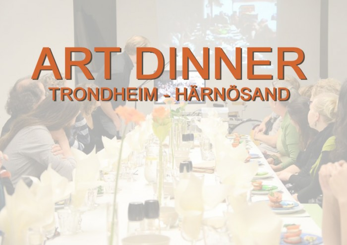 Art Dinner 2012 Connecting Atelier Ilsvika Trondheim in Norway and KKV artist studios in Härnösand